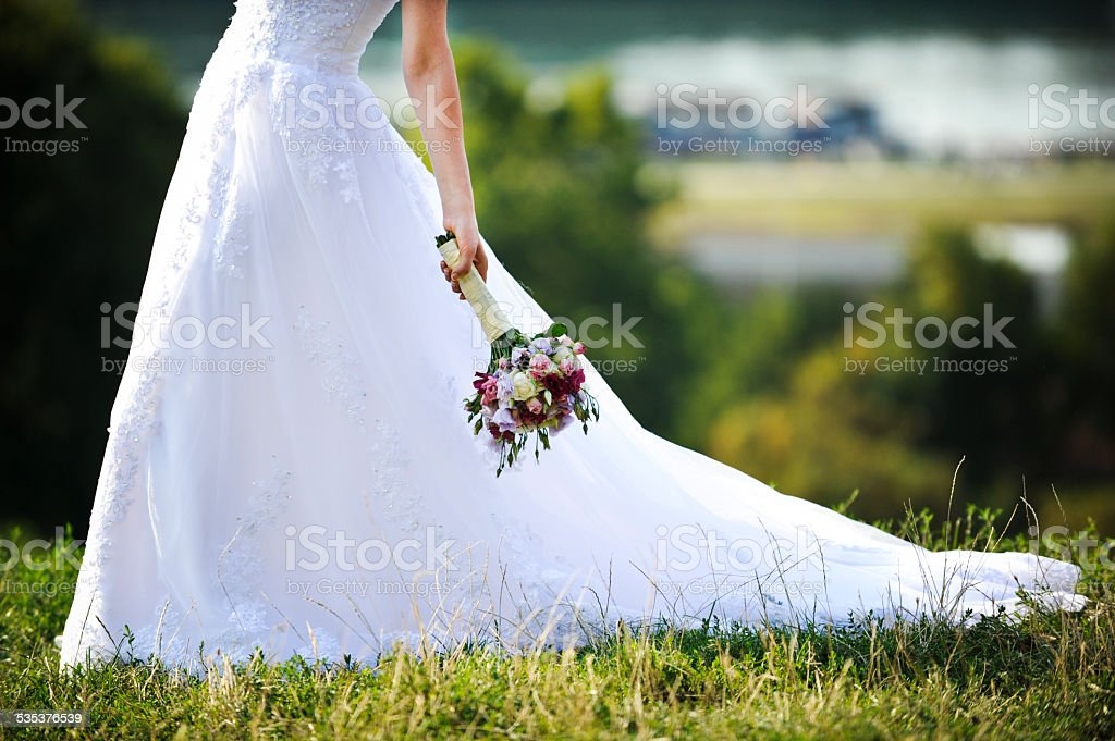 Bride with Bouquet (Click for more) stock photo