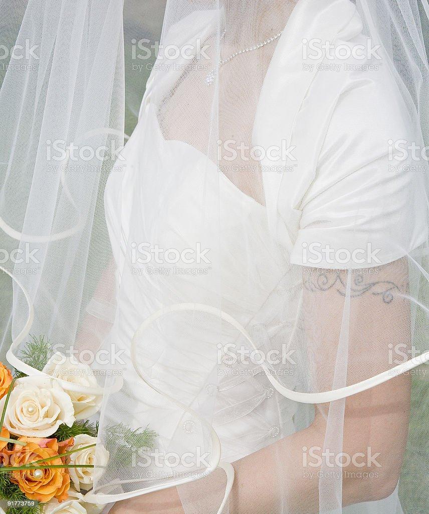 Mariée avec bouquet photo libre de droits