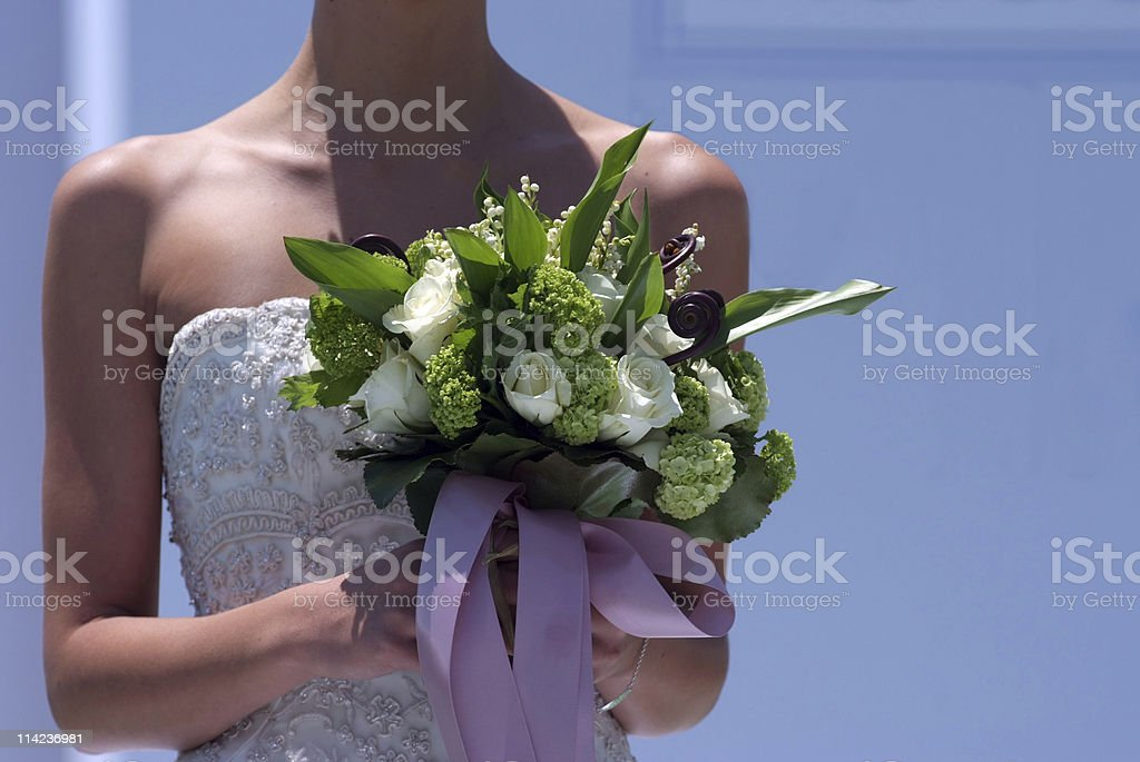 Bride with flowers royalty-free stock photo