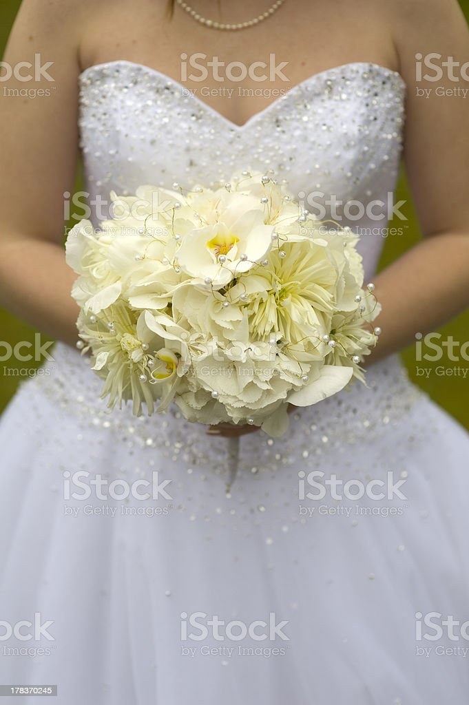bride with wedding bouquet royalty-free stock photo