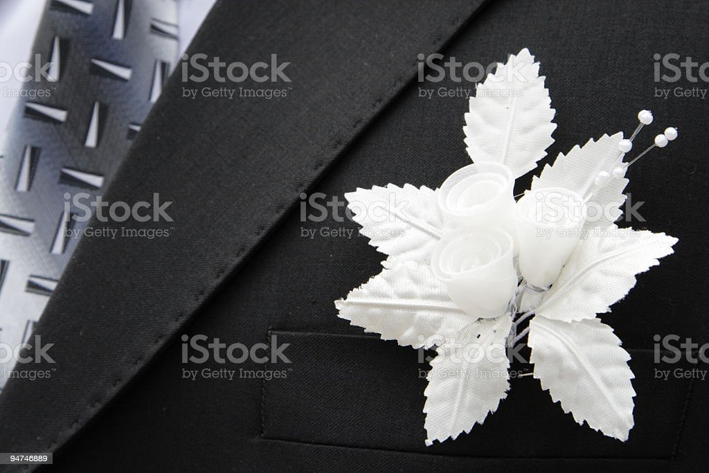 bridegroom and buttonhole royalty-free stock photo