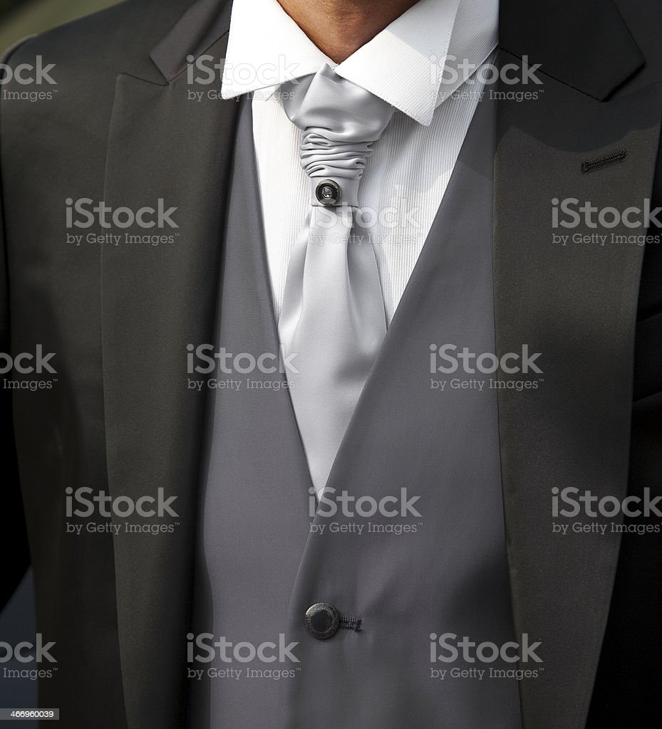 Bridegroom with black dress royalty-free stock photo