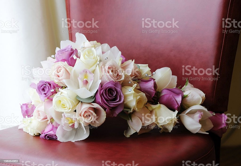 Brides bouquet of flowers royalty-free stock photo
