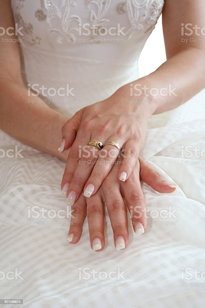 Bride's hands royalty-free stock photo
