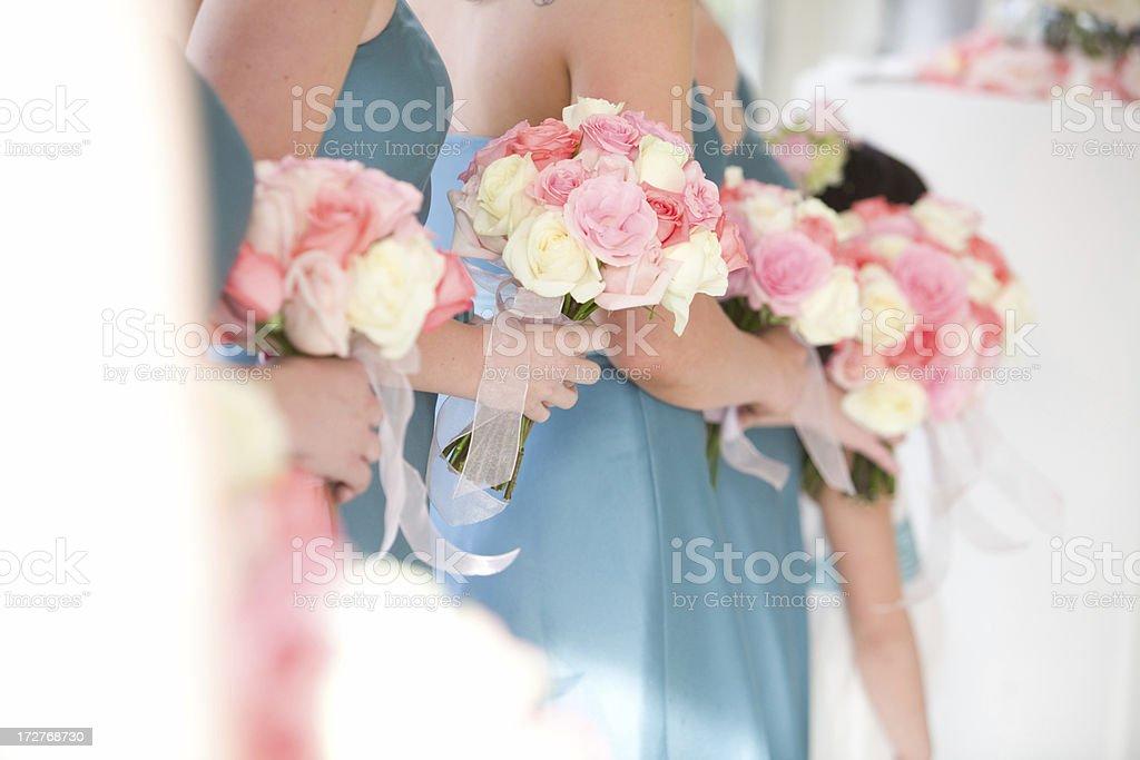 brides maids stock photo