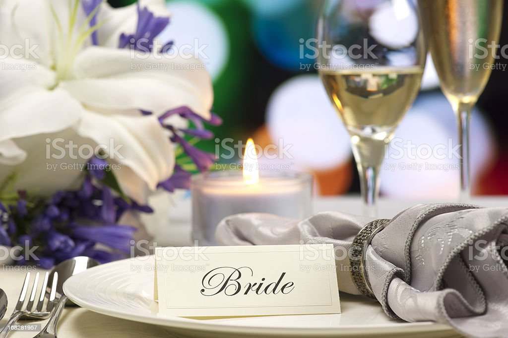 Bride's Place royalty-free stock photo