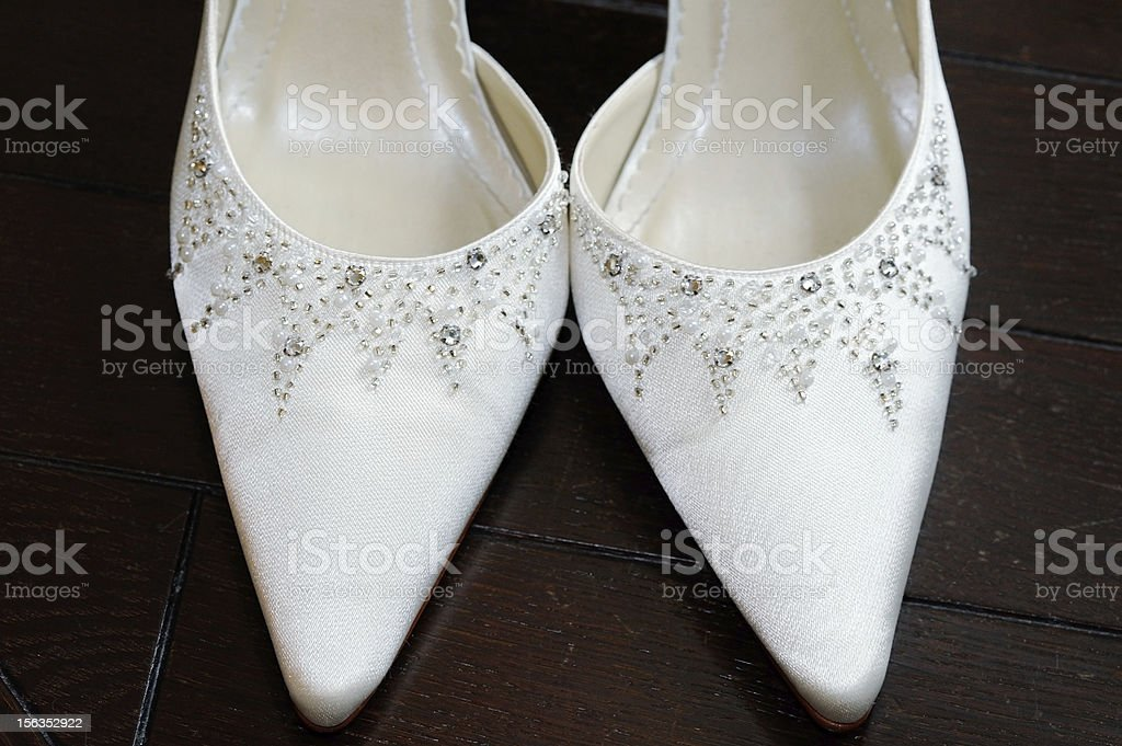Brides shoes closeup royalty-free stock photo