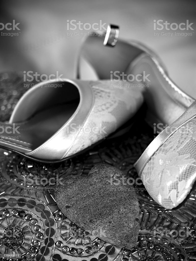 Brides shoes for a wedding royalty-free stock photo