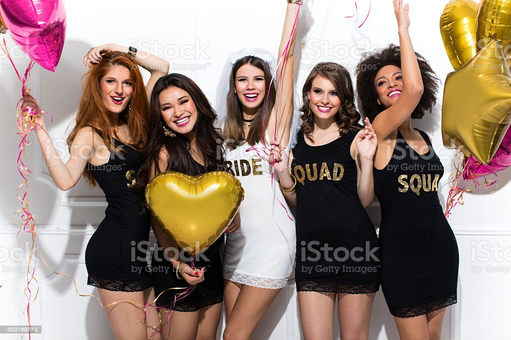Bride's squad stock photo
