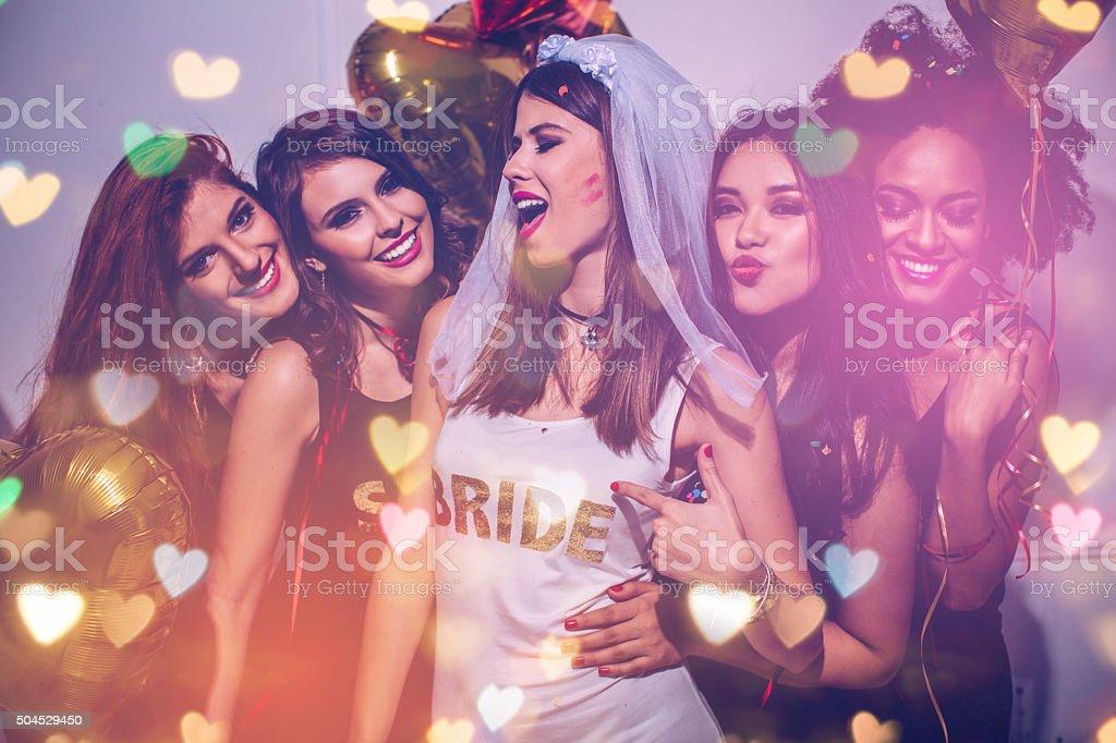 Bride's squad stock photo
