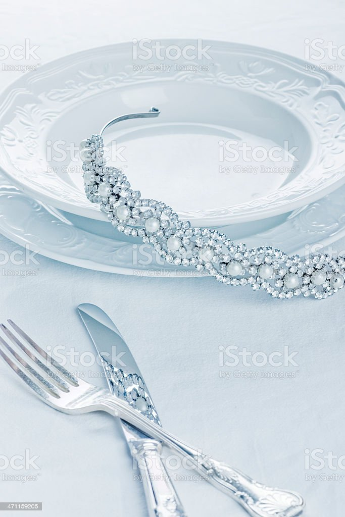 Bride's Tiara royalty-free stock photo