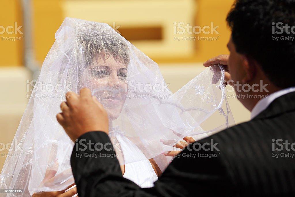 Bride's veil royalty-free stock photo