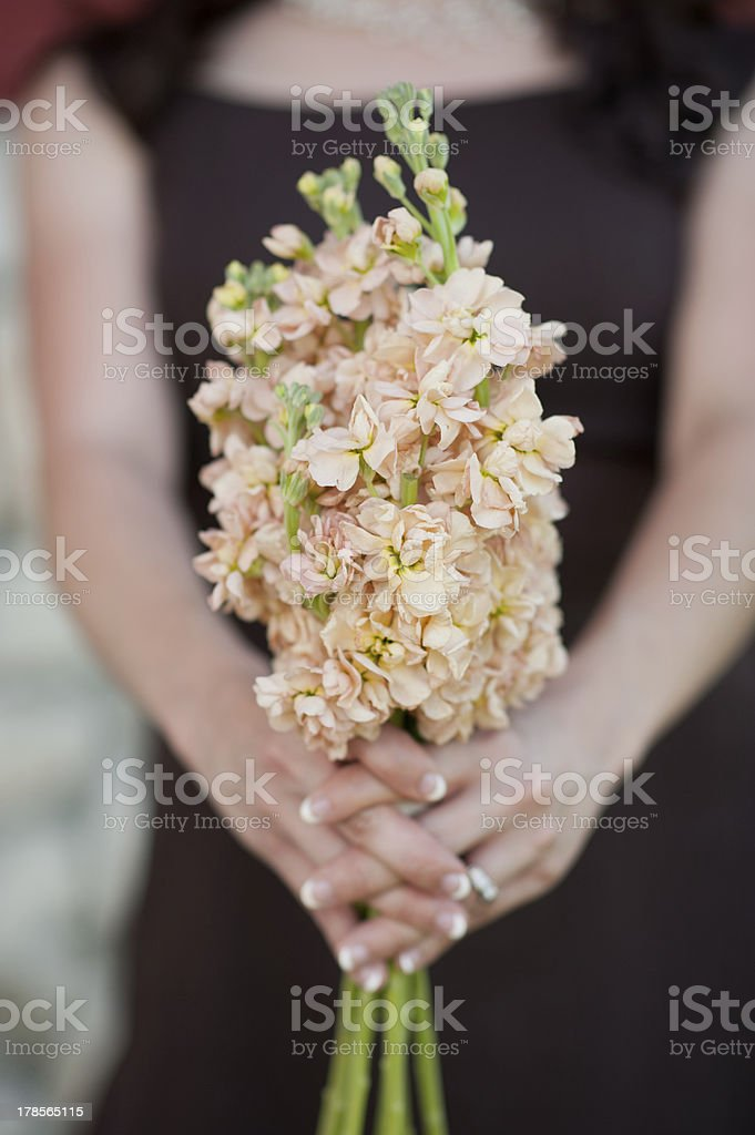bridesmaid flowers royalty-free stock photo