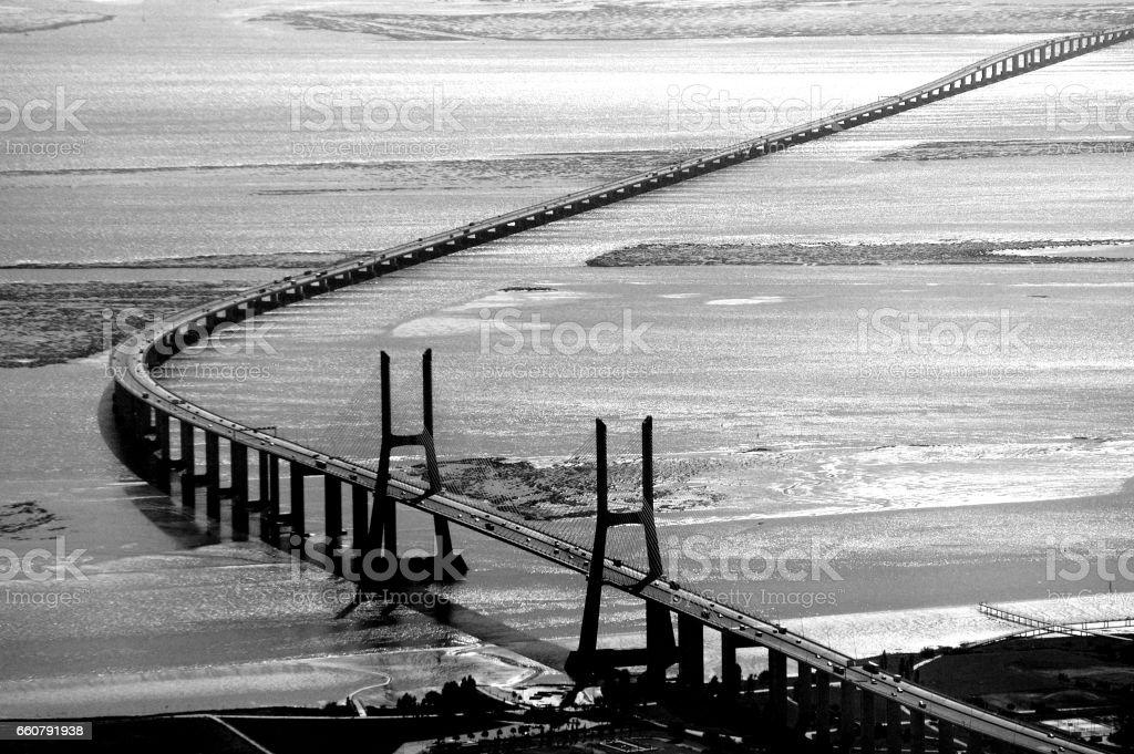 Bridge 25 April stock photo