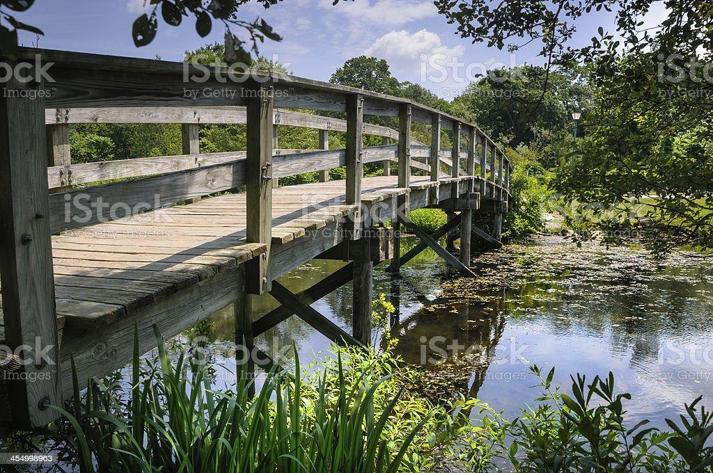 Bridge Across Calm Waters stock photo