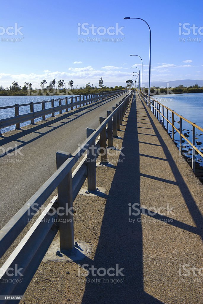 Bridge across River at Port Pirie stock photo