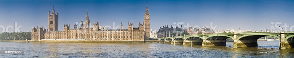 Bridge Across River Thames and Palace of Westminster royalty-free stock photo
