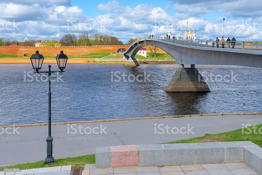 bridge across the river leads to  Kremlin royalty-free stock photo