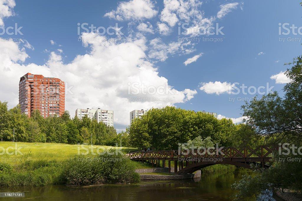 Bridge across the river royalty-free stock photo