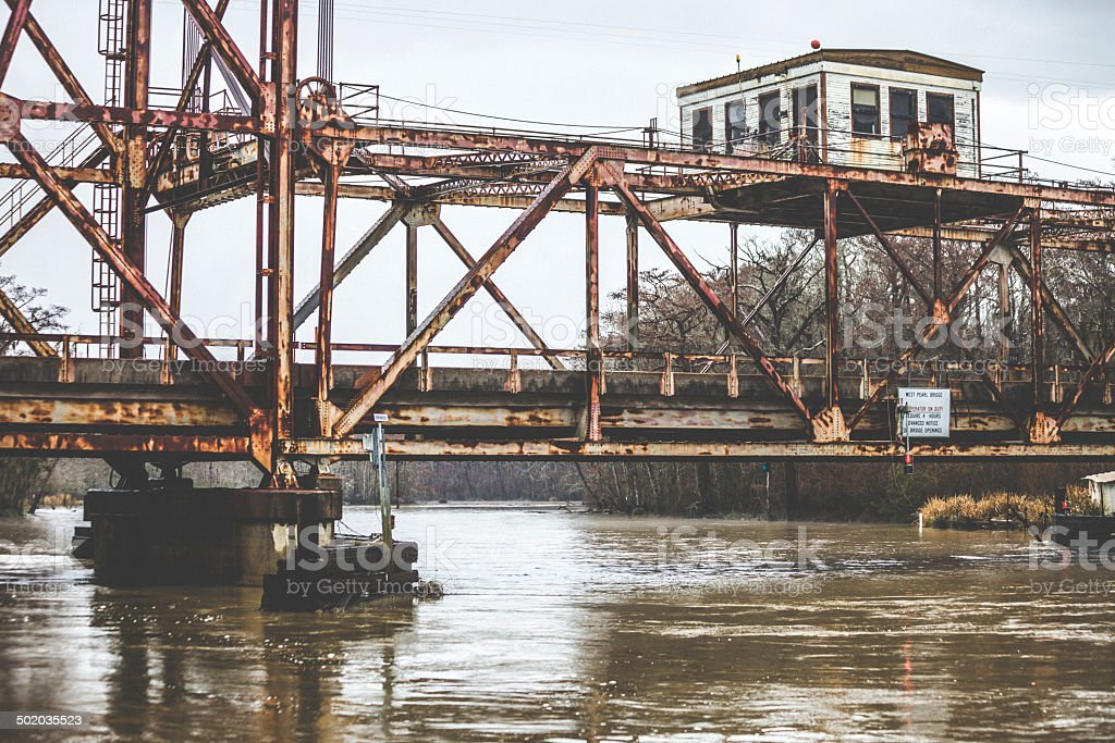 Bridge across the river. stock photo