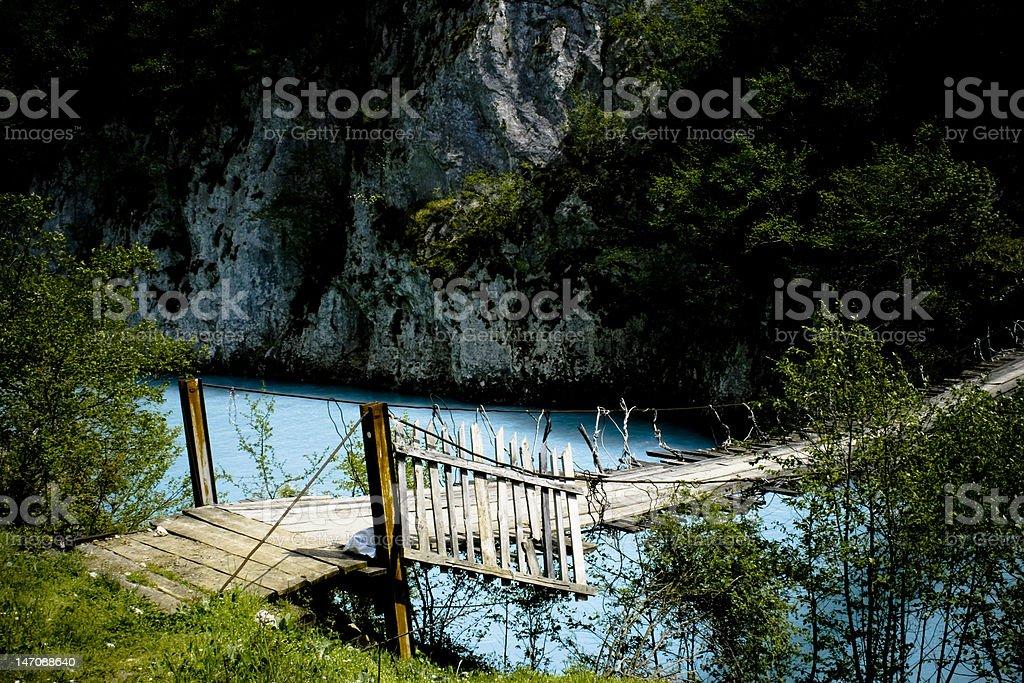 Bridge across the river Tara. Durmitor, Montenegro. stock photo