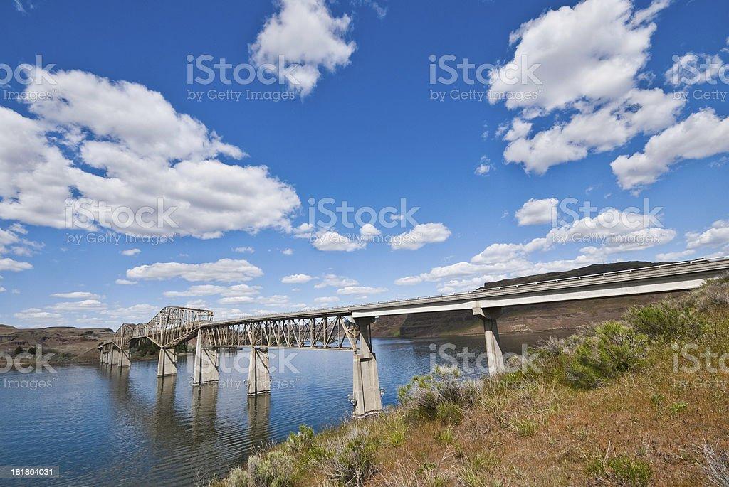 Bridge Across the Snake River royalty-free stock photo