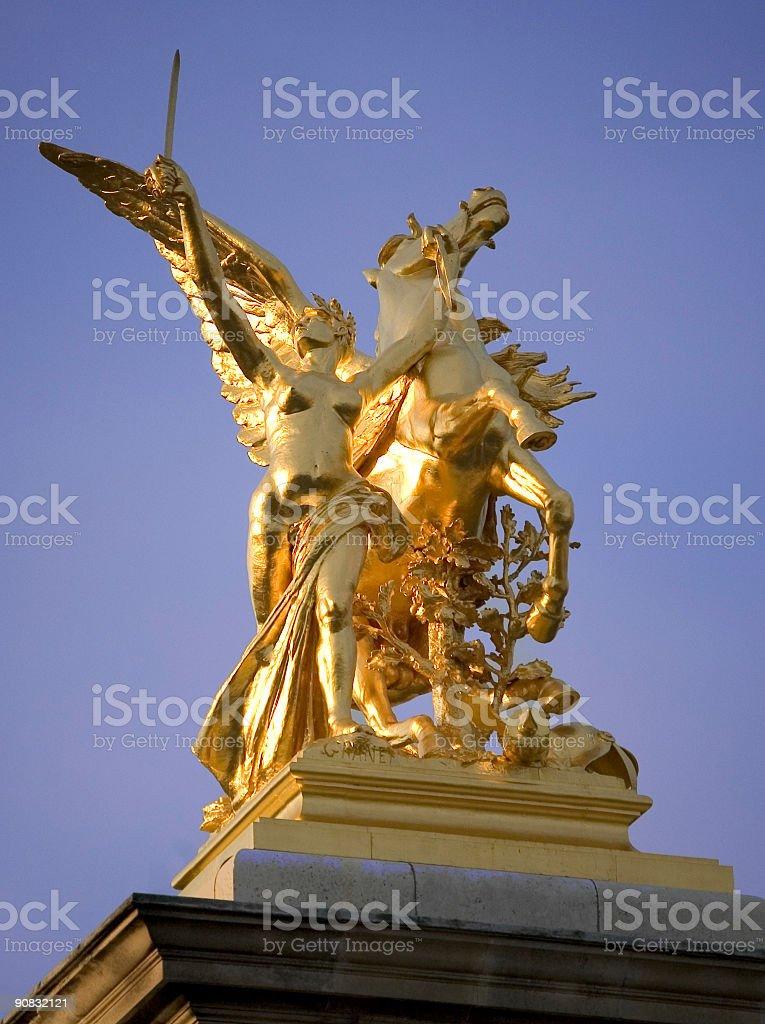 Bridge Alexander III in Paris, France stock photo