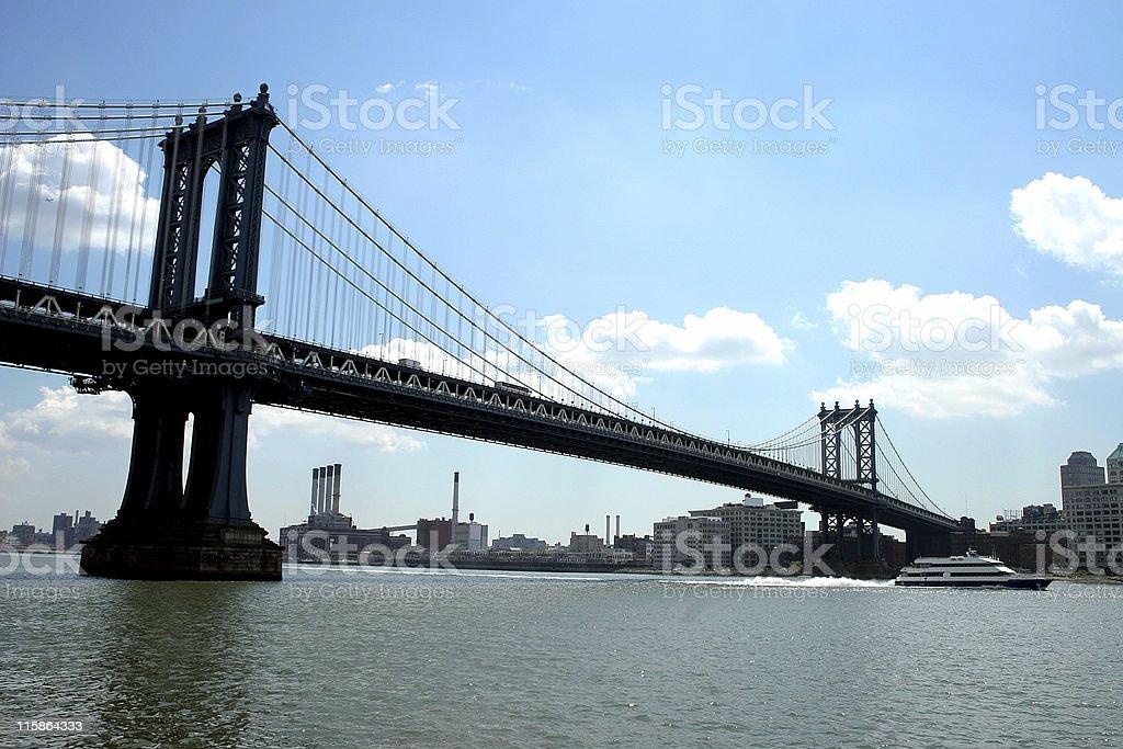 bridge and boat royalty-free stock photo