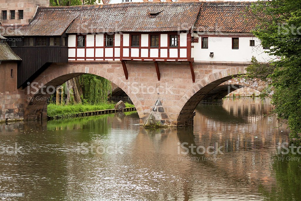 Bridge and building stock photo
