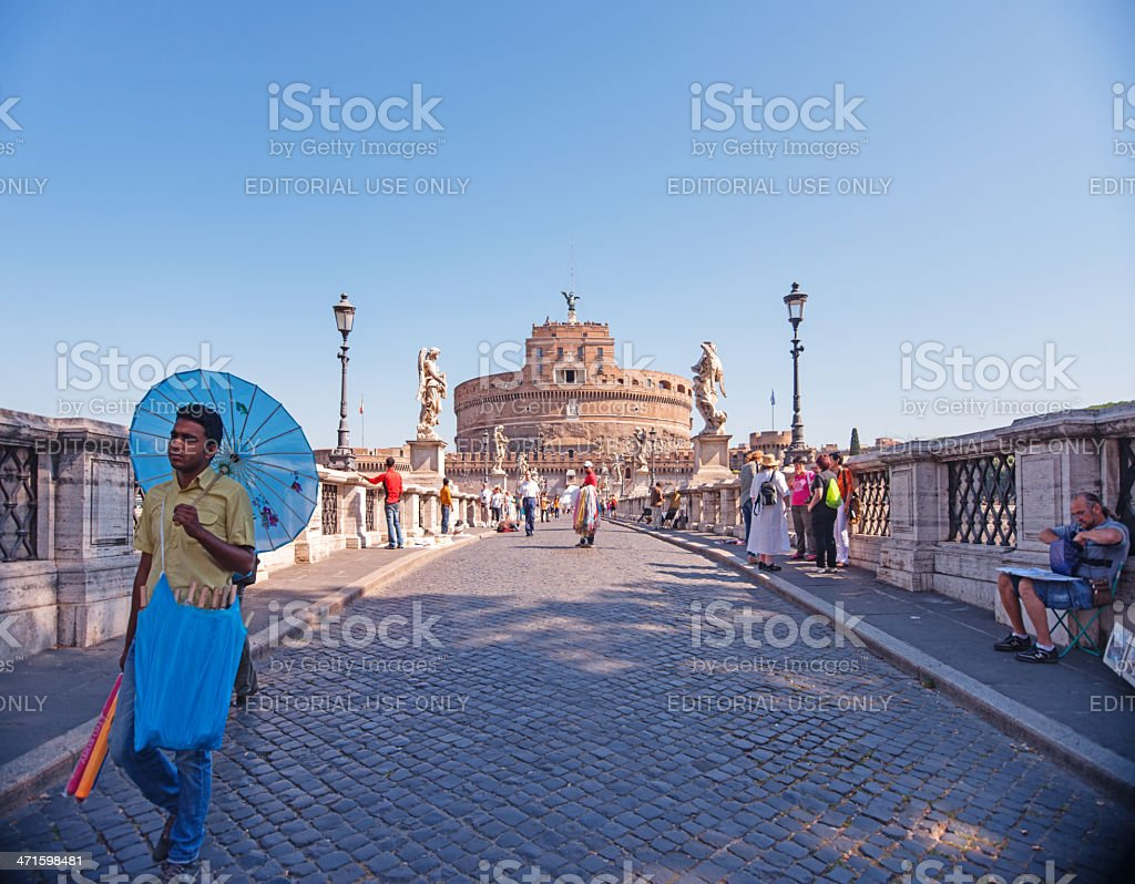 Bridge and Castel Sant'Angelo, Rome Italy royalty-free stock photo
