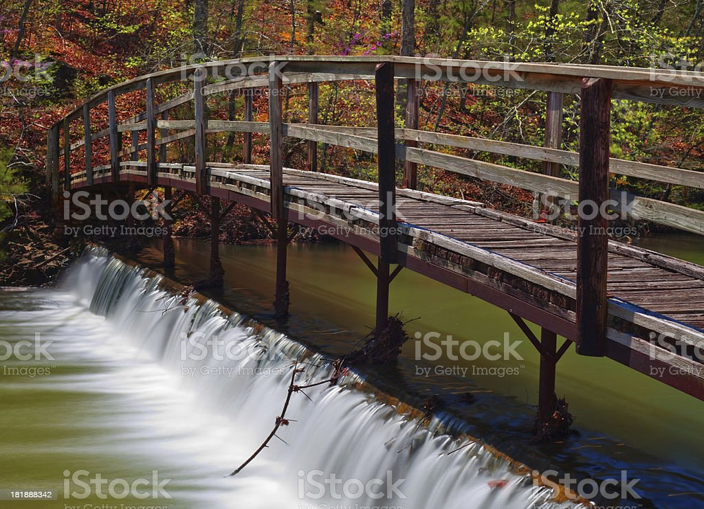 Bridge and Falls royalty-free stock photo