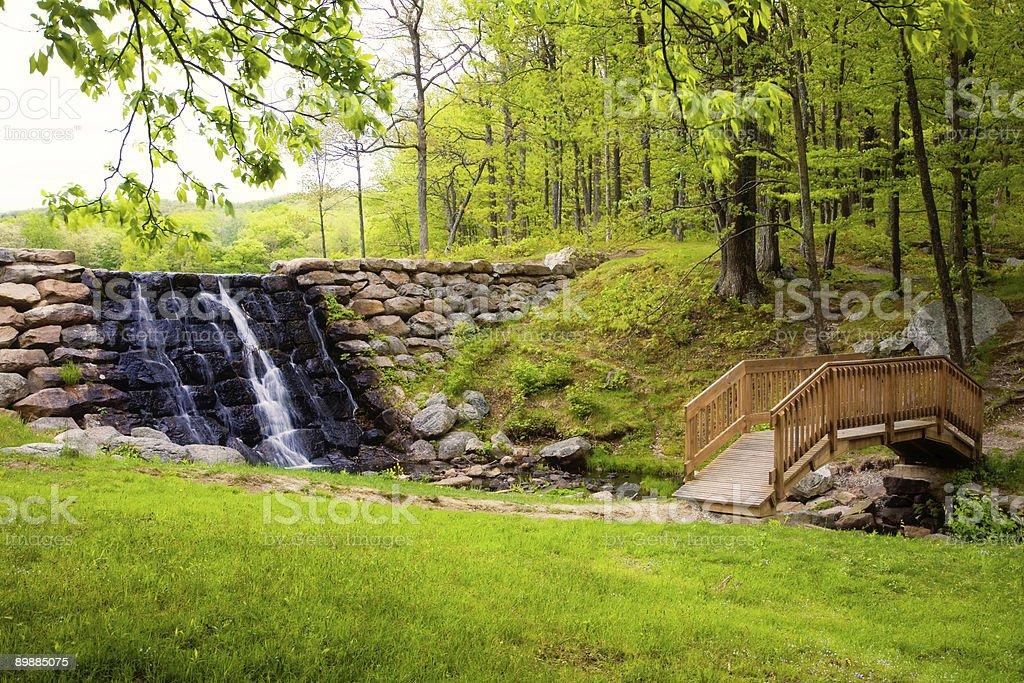 Bridge and Falls royalty-free stock photo