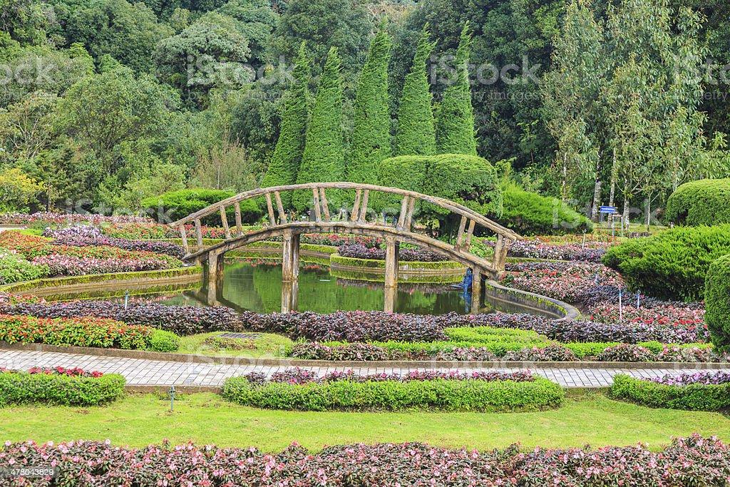 bridge and flower  environment royalty-free stock photo