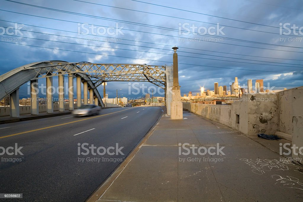 Bridge and Office Buildings royalty-free stock photo