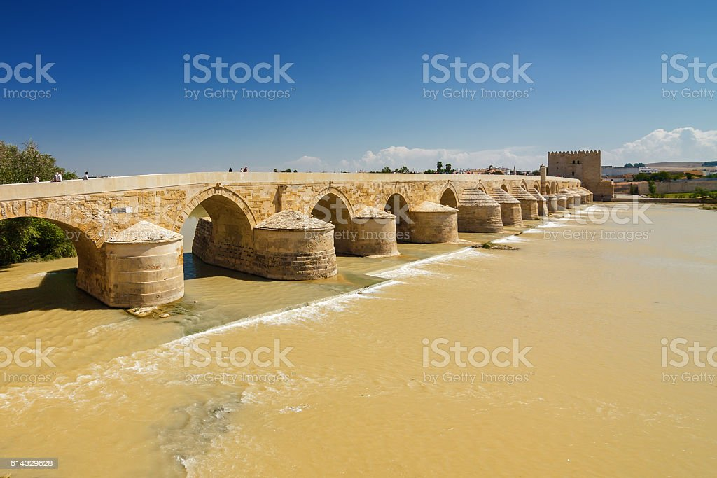 Bridge and river Guadalquivir in Cordoba, Andalusia province, Spain. stock photo