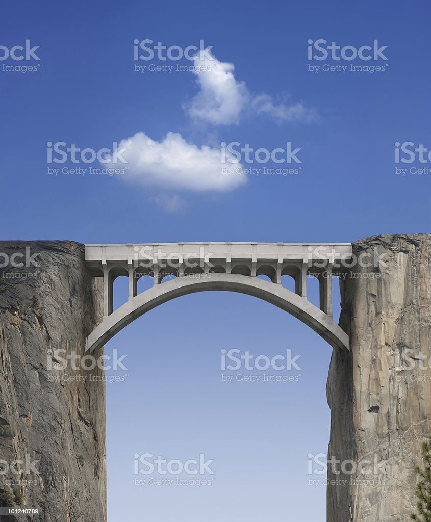 Bridge and Sky stock photo