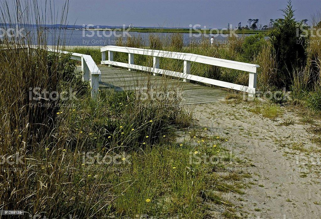 Bridge and Walkway to the Beach royalty-free stock photo