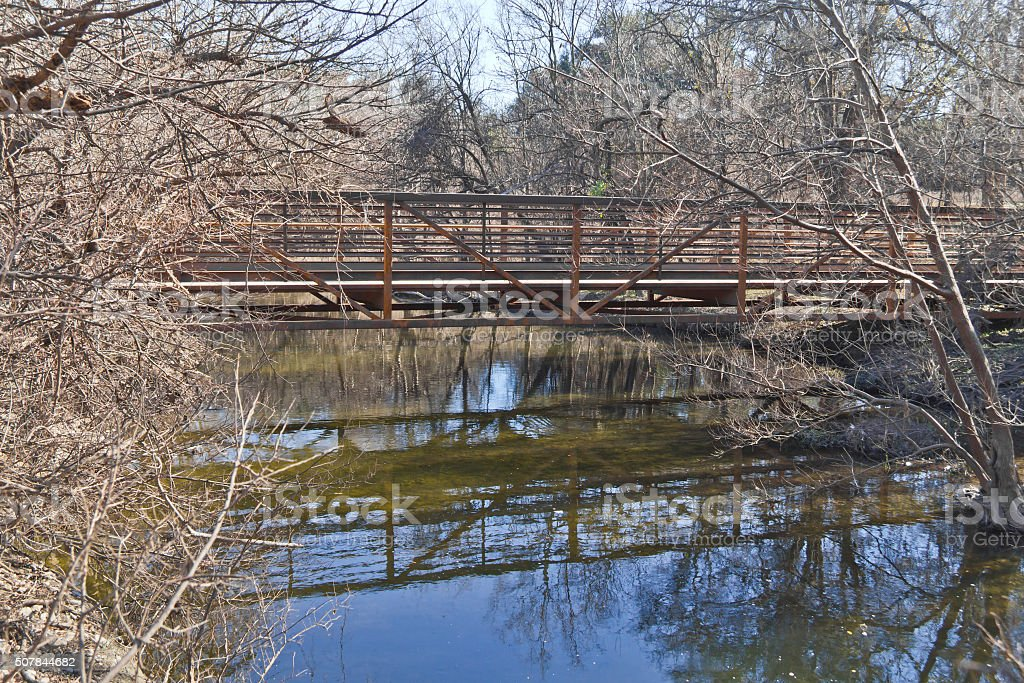 Bridge at Brushy Creek Regional Trail stock photo