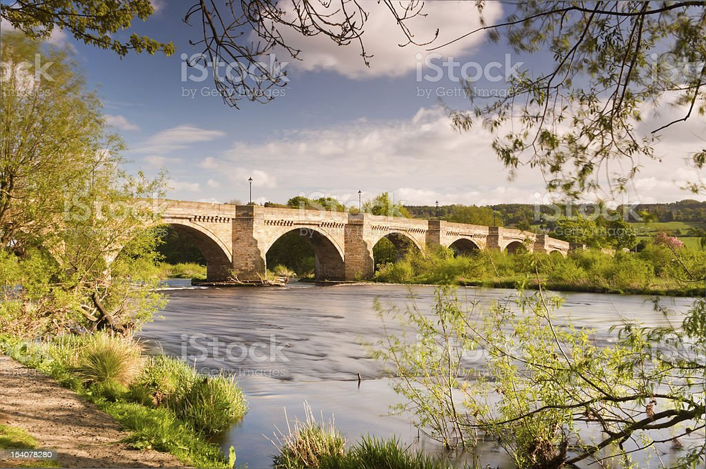 Bridge at Corbridge stock photo