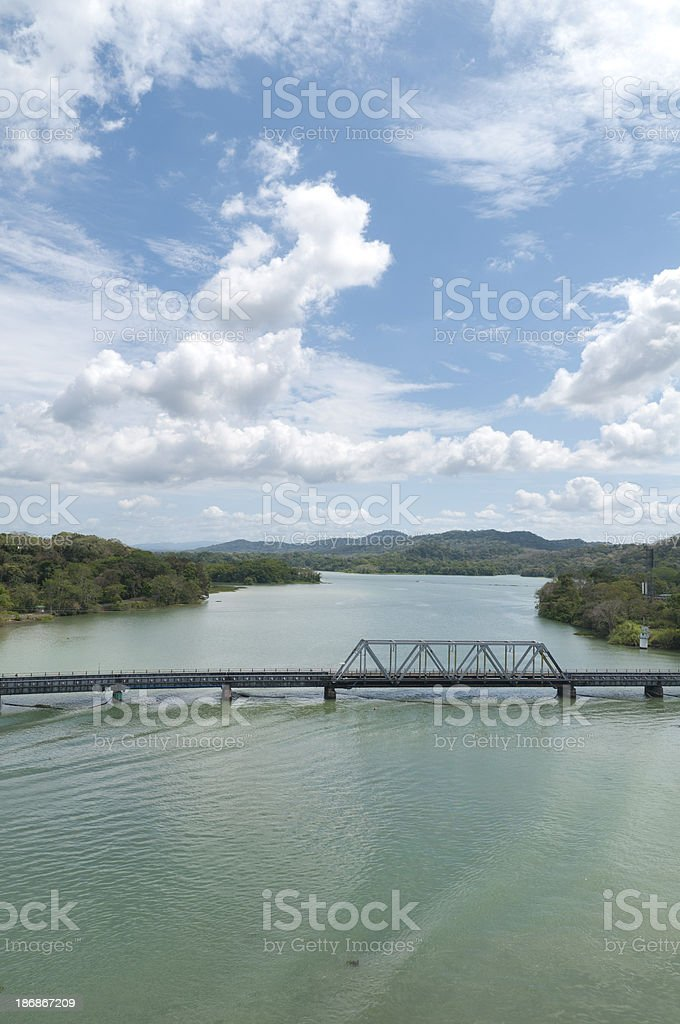 Bridge at Gamboa Crossing the Chagres River royalty-free stock photo