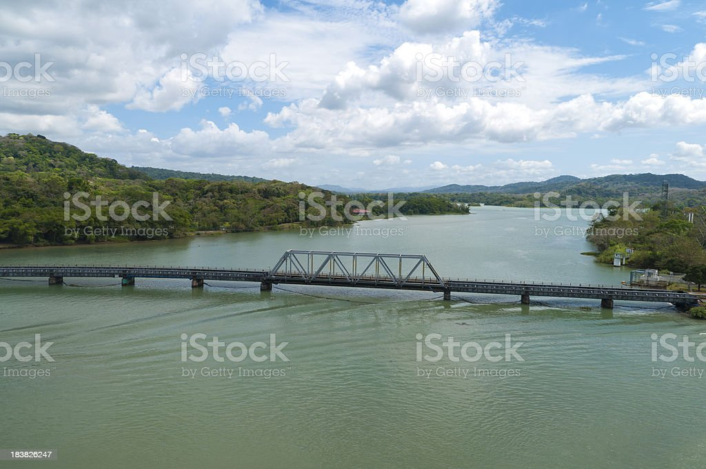Bridge at Gamboa stock photo