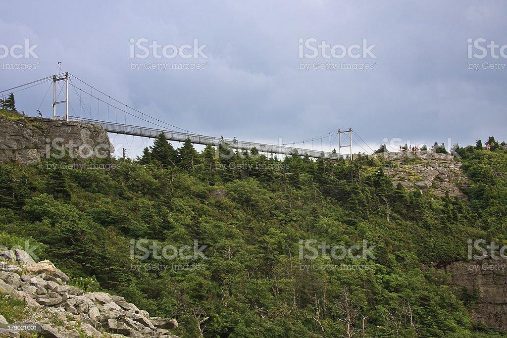 Bridge at Grandfather Mountain royalty-free stock photo