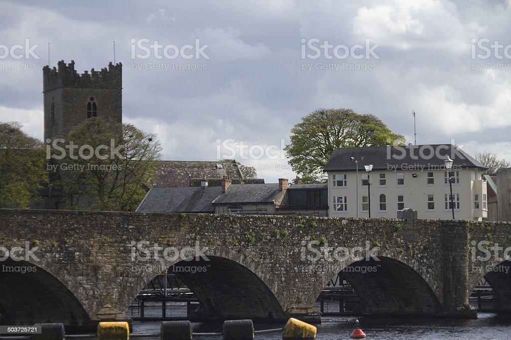 Bridge at Killaloe and Ballina stock photo