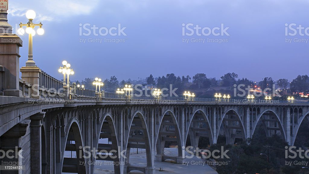 Bridge at Night royalty-free stock photo