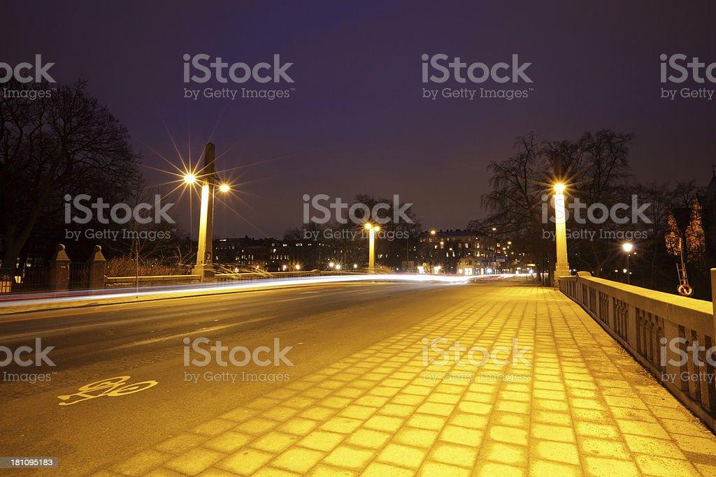 Bridge at night royalty-free stock photo