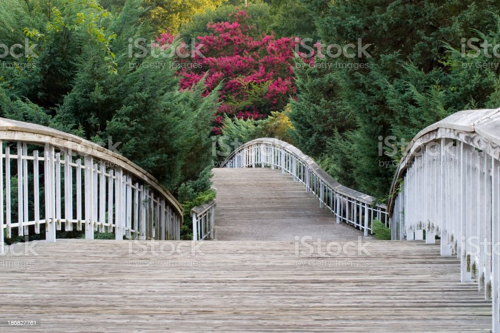 Bridge at Pullen Park stock photo