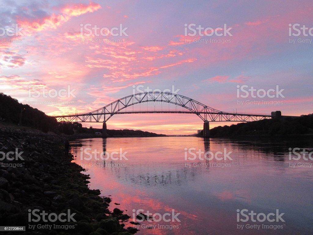 Bridge at Sunrise stock photo