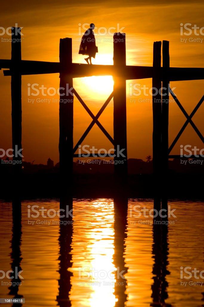 Bridge at sunset royalty-free stock photo