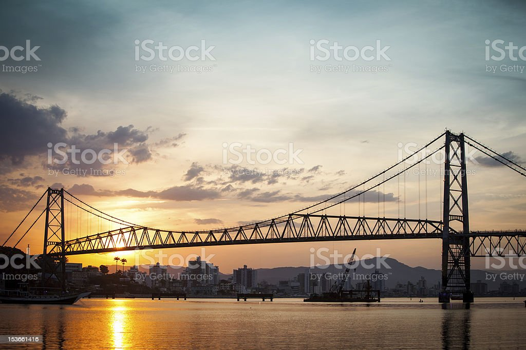 Bridge at Sunset stock photo