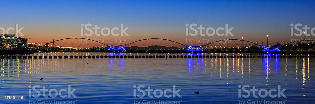 Bridge at Sunset royalty-free stock photo
